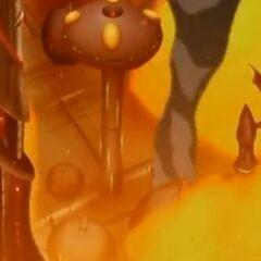A city in Gundalia burning