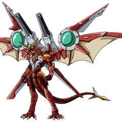 Helix Dragonoid equipped with JetKor in Bakugan Form