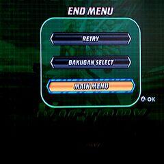 End Battle Screen
