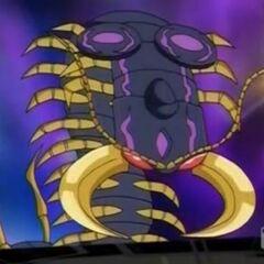Darkus Centipoid in Bakugan form
