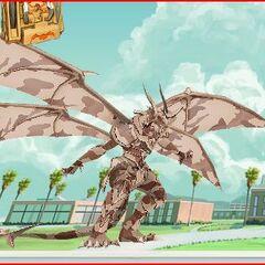 Stealth Lumino Dragonoid damaged.