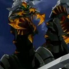 Razen Titan revealing his three  heads