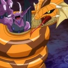 Darkus Gargonoid trapped by Subterra Serpenoid