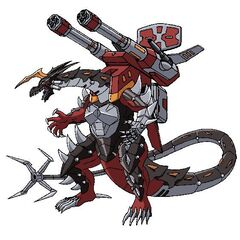 Helios MK2 equipped with Twin Destructor in Bakugan form