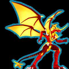 Lumino Dragonoid's Real Mode, as it appears in Bakugan Dimensions
