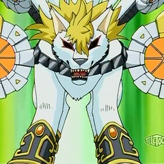 Lumagrowl combined with Barias Gear in Bakugan form
