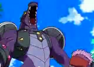 Darkus Anchorsaur in Bakugan mode