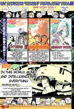 "1st Bakuman ""Manga"" Popularity Poll Page 1 Colour"