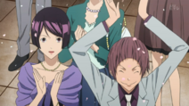 Iwase i Eiji na ślubie Hiramaru