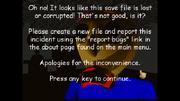 Save file error