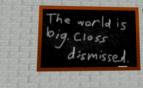 Classroom chalkbord