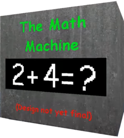 Math Machine placeholder render