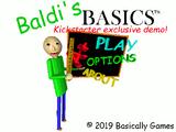 Baldi's Basics Kickstarter Exclusive Demo