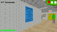 Baldi with Poster