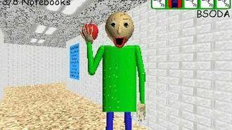 What happens if you spray Baldi eating an apple. Baldi's Basics Full Game Public Demo