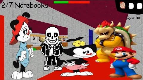 Wakko warner's basics in how to be silly and cool - Baldi's Basics V1.4 Mod