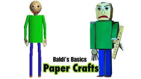 Video Baldi S Basics As Papercrafts Baldi S Basics