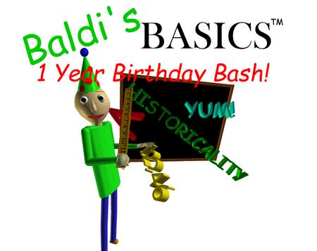 Baldi's Basics Birthday Bash Cover