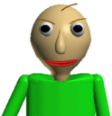 Baldi intimidating