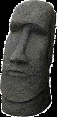 SCM701B Sculpture Statue Moai Easter Island Head Basalt 5-0
