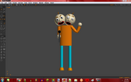 2 Head Guy holding Head Gun Anim8or version