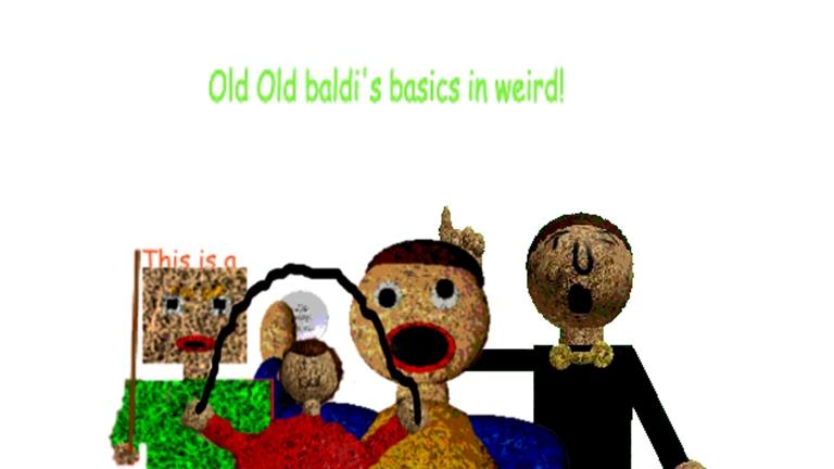 Old Old Baldi S Basics Baldi S Basics Roblox Wiki Fandom