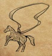 Wooden Horse Necklace item artwork bg2ee