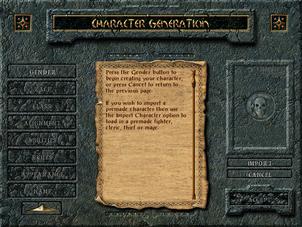 Character generation