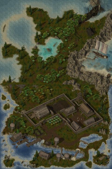 Baldur S Gate Island In Trackless Sea
