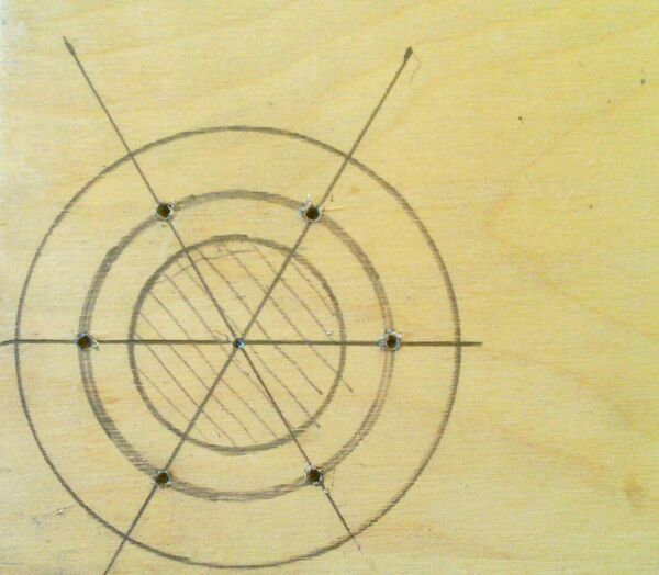 Making washer rim hole template - 01