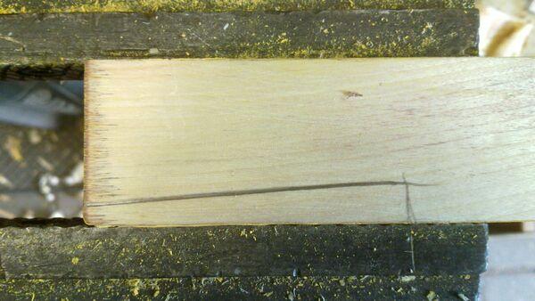 Making a wedge-sawing helper - 02