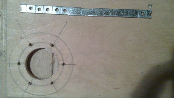 Making washer rim hole template - 09