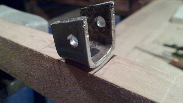 Attaching cheiroballistra fork and tenon to the slider - 05