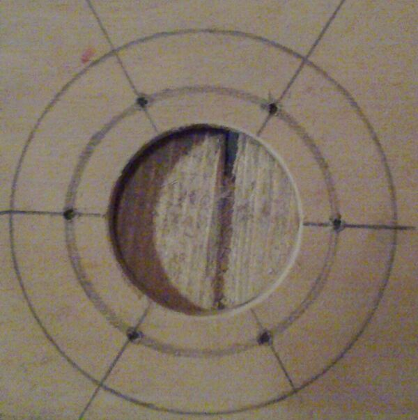 Making washer rim hole template - 05
