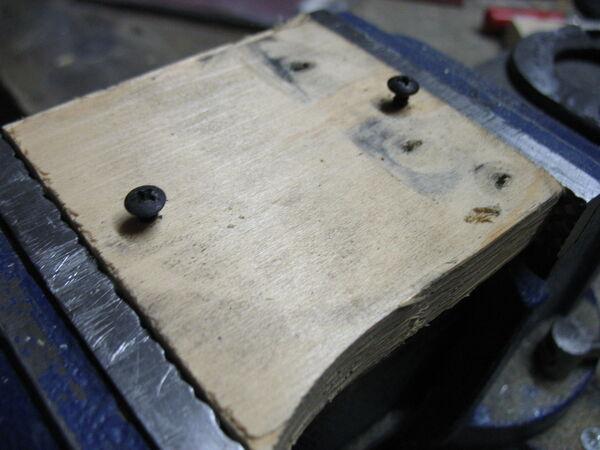 Riveting field frame bars to rings - 07