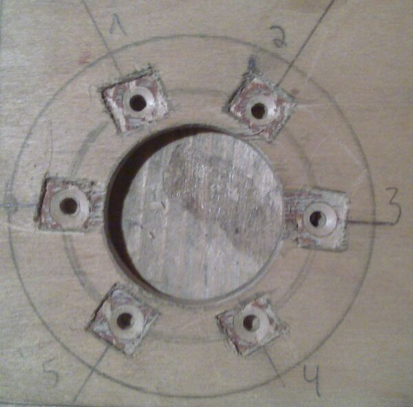 Making washer rim hole template - 15