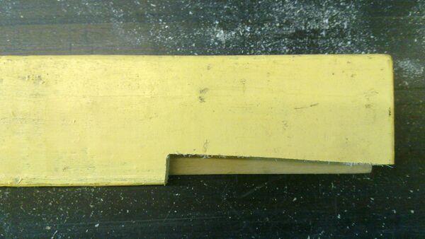 Making a wedge-sawing helper - 08