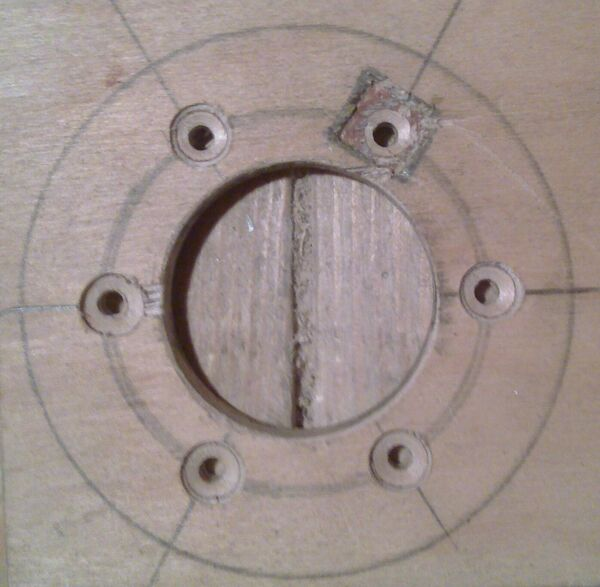 Making washer rim hole template - 13