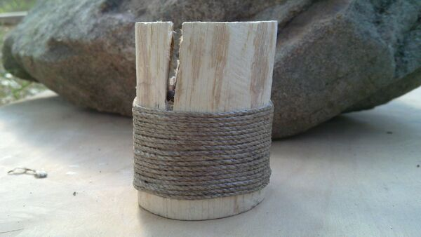Bending pi-brackets using a wooden tool - 05