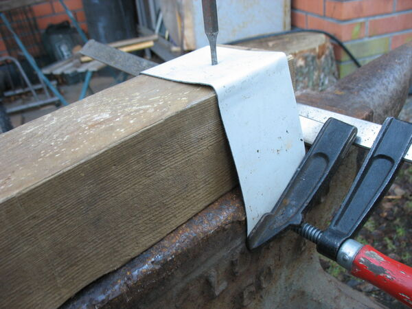 Making a little arch fork forging template - 08