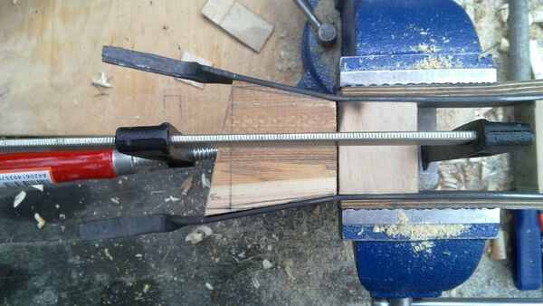 Fitting the little ladder tenons to field-frame pi-brackets - 04