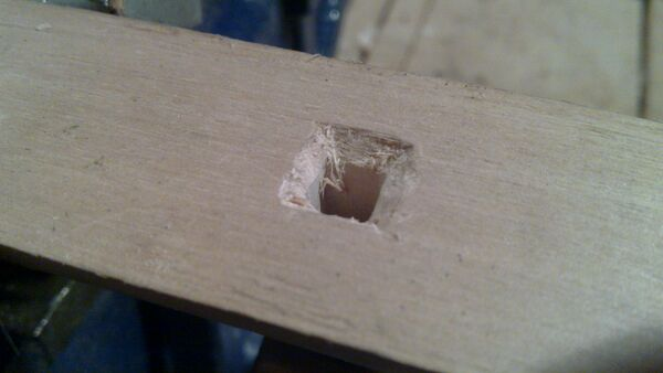 Attaching cheiroballistra fork and tenon to the slider - 03