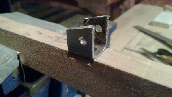 Attaching cheiroballistra fork and tenon to the slider - 07