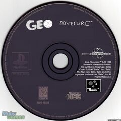 The PlayStation disc (The picture was made by Alerkina333. Please help Geosworld2011 and Jack299 by using the 1996 UIS logo instead of the 1997 UIS logo).