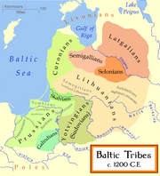 Baltic Tribes c 1200