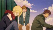 Shunichi tries to wake up Eiji