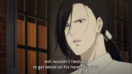 Yut-Lung tells Eiji that Ash wouldn't hesitate to get blood on his hands for him