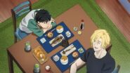 Ash tells Eiji I'm in the middle of my growth spurt