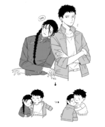 Sing puts his coat on Yut-Lung