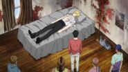Eiji and the others watch Ash sleep